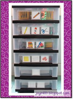 Organizing materials so that younger students can manage themselves... from Finding JOY in 6th Grade (blog)