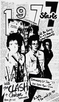 1er Janvier 1977, le concert du nouvel an pour l'ouverture officielle du Roxy Club