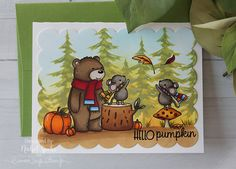 Simon Says Stamp + Neat & Tangled Hello Pumpkin STAMPtember limited edition stamps and dies. Thanksgiving Place Cards, Neat And Tangled, Simon Says Stamp Blog, Pumpkin Cards, Fall Cards, Paper Cards, Clear Stamps, Greeting Cards Handmade, Homemade Cards