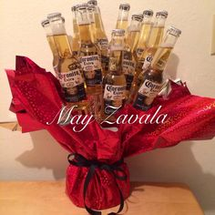 Made this bouquet of coronas for my boyfriend for valentines days!