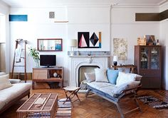 easy-going eclectic living room