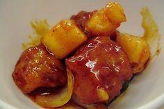 Foto de la receta de chuletas de cerdo a la hawaiana