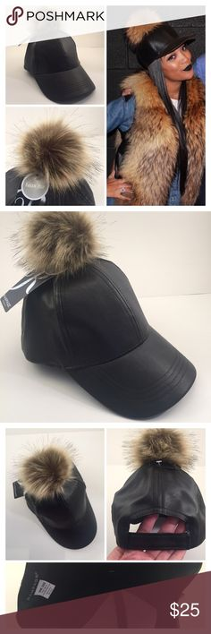 FUAX FUR POM POM BASEBALL CAP Get pom-tastic in this playful pom top baseball cap. -Velcro back closure -Pleather  -Faux fur top pom   2+ BUNDLE=SAVE  ‼️NO TRADES--NO HOLDS--NO MODELING   Brand Authentic   ✈️ Ship Same Day--Purchase By 2PM PST   USE BLUE OFFER BUTTON TO NEGOTIATE   ✔️ Ask Questions Not Answered In Description--Want You Yo Be Happy Rampage Accessories Hats