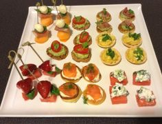 Canapé selection for our bridal couple getting married at Mulberry Lodge next month