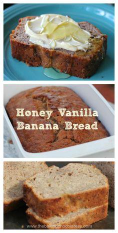 Indulge yourself! One bite of Mimi's Honey Vanilla Banana Bread and you'll be hooked. SharePinterest