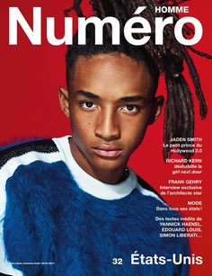 Numero Homme features American actor and rapper Jaden Smith on the cover of their Fall Winter edition lensed by fashion photographer Nathaniel Goldberg. For the cover Jaden is wearing Louis Vuitton. Cover Male, Cover Boy, Cover Pics, Cover Picture, Frank Gehry, Good Girl, Richard Gere, Girl Next Door, Laura Lee