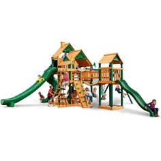 Treasure Trove II Swing Set - Optional Treehouse - Various Roofs