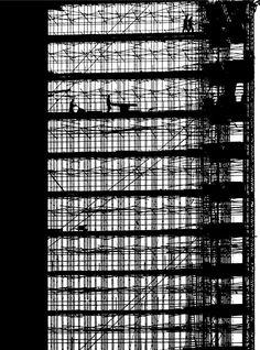 Phillips Headquarters under construction, Eindhoven, 1961  photo by Aart Klein