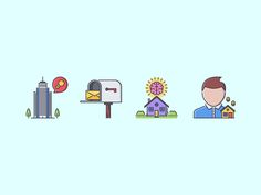 The Real Estate Filled Outline Icons 25 by last spark