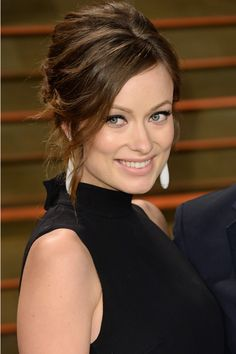 Hair Updos: The Easy-To-Copy Styles From The Red Carpet - Olivia Wilde With A Tousled Curled Updo from InStyle.com