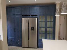 Blue Fiddleback PVC Wrap Doors Lockers, Locker Storage, Kitchens, Doors, Cabinet, Blue, Furniture, Home Decor, Clothes Stand
