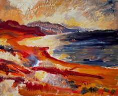 David Bomberg - Cyprus, oil on canvas - lovely warm oranges and also placed next to some complementary blues Robert Rauschenberg, Edward Hopper, David Hockney, Paul Klee, Your Paintings, Landscape Paintings, Landscapes, Flower Paintings, A Level Art Themes
