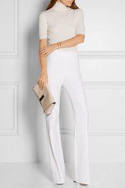 Joan stretch-crepe wide-leg pants