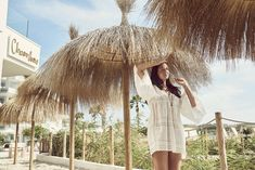 Chambao's signature thatched umbrellas mean you can dine with your feet in the sand, without worrying about getting too much sun on your skin. SPF with a difference! Ibiza Trip, Ibiza Travel, Hotel Ibiza, Nobu Restaurant, Rooftop Terrace, Beach Bars, Umbrellas, Seaside, Sun