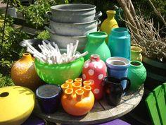 Stilleven in tuin kleurrijk