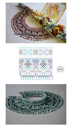 Фотографии Натали Ховалко Diy Necklace Patterns, Beaded Jewelry Patterns, Beading Patterns, Bead Crafts, Jewelry Crafts, Beaded Bags, Handmade Beads, Bead Crochet, Beading Tutorials