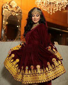 Afghani Clothes, Bridal Eye Makeup, Shadi Dresses, Afghan Girl, Rajputi Dress, Afghan Dresses, Anarkali Dress, Fashion Dresses, Diy Curtains