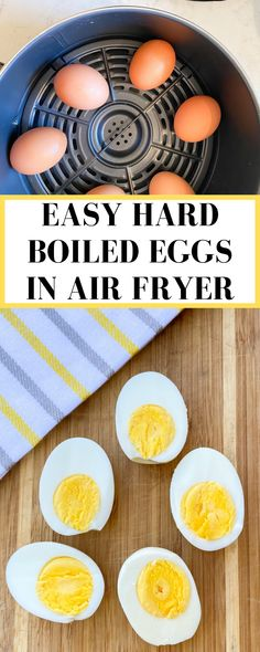 Air Fryer Oven Recipes, Air Frier Recipes, Air Fryer Dinner Recipes, Brunch Recipes, Yummy Recipes, Keto Recipes, Making Hard Boiled Eggs, Hard Boiled Egg Recipes, Breakfast