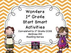 Wonders First Grade Start Smart Reading Activities - Weeks 1-3  $