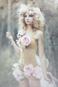 The Wild Rose Fairy by Emily Soto, via Behance