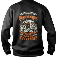 Hot TShirt  Ltd Edt  Diesel Mechanic Father  T Shirt  Warrior