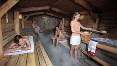 """THERME ERDING is the world's largest spa center that contains the world's largest sauna area or """"sauna world"""". The spa is located 20 km from Munich Finnish Sauna, Outdoor Sauna, Hot House, Spa Center, The Visitors, Hotel Spa, The Wiz, Spa Day"""