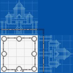 Castle With Blue Towers - GrabCraft - Your number one source for MineCraft buildings, blueprints, tips, ideas, floorplans!