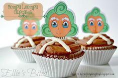 Wonka Party Oompa Loompa Cupcakes (Ellie's Bites) Cupcake Toppers by Mighty Delighty