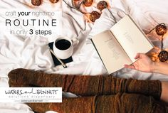 Craft a Nighttime Routine for Adults, from www.WatersandBennett.com. #WatersandBennett