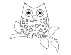 Funny Little Owl Coloring Page