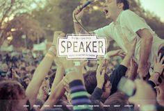 Speaker music event wordpress theme