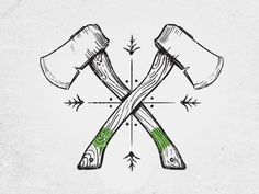 Hatchets by Chris Green