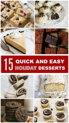 Simple quick and easy sweet treats to make for the holidays!