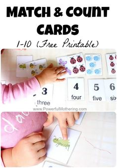Our free printable number cards for 1-10 are perfect for matching and counting with your toddler or preschooler. These printable numbers 1-10 accommodate many levels of learning.