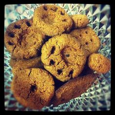 Easy Dog Treats 2 cups dry dog food blended to a powder 1 1/4 cups of water 1/4 cup of peanut butter  Mix well then bake @ 350 for 30 minutes or until hardened.