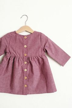 Girls Handmade Plum Cotton Dress HelloTalaria on Etsy Little Girl Fashion, Toddler Fashion, Toddler Outfits, Kids Fashion, Girl Outfits, Ladies Fashion, Toddler Girls, Kid Styles, My Baby Girl
