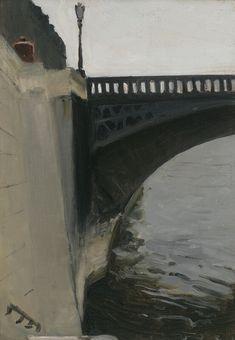 Edward Hopper - Bridge and Embankment (1906) More