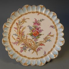 European Germany? German? Floral Decorated Cabinet Porcelain Plate ca. 20th c.