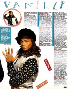 SHV11N1P14 MILLI VANILLI 2 PAGE ARTICLE WITH PICTURE p2 - very funny Milli Vanilli interview