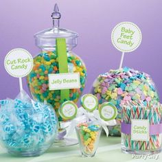 Baby Shower Candy Buffet~Party City (don't forget the labels)