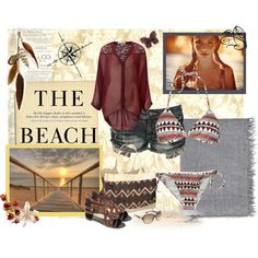 The Beach, created by dancer11forever on Polyvore, Beach & Market Tote, $60 www.rtfairtrade.com