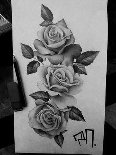 Daniel Smoker – Roses Daniel Smoker – Roses Th … – Tattoos Rose Bud Tattoo, Rose Drawing Tattoo, Realistic Rose Tattoo, Rose Flower Tattoos, Rose Tattoos For Men, Flower Tattoo Designs, Rose Tattoo Thigh, Rose Tattoo Ideas, 3 Roses Tattoo