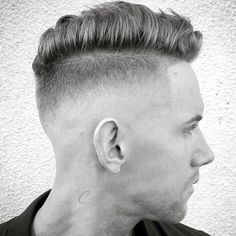 High Razor Fade with Shape Up and Comb Over
