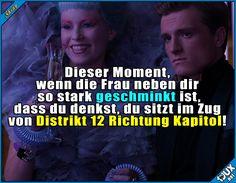 Bin ich bei den Hunger-Games? #überschminkt #peinlich #Spruchbild #Humor
