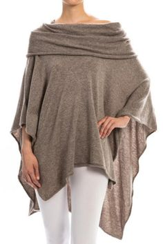 This knit poncho in beige is great for sweater season. Comfortable, relaxed and read to take on the chilly temperatures! #scottsmarketplace