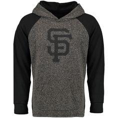 Men's San Francisco Giants Majestic Threads Charcoal/Black Double Face Slub Pullover Hoodie