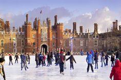 Hampton Court, London.  Winter Ice Rinks' Most Iconic Locations
