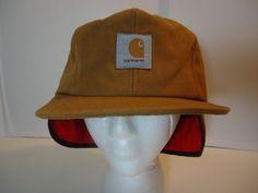 VINTAGE! Men's CARHARTT Thermolite Insulated Hat Cap w/ Ear Flaps XL USA MADE #Carhartt