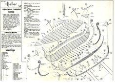 Bauplan eines Models des Osebergschiff