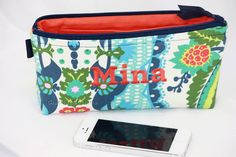 Personalized Cosmetic Bag / Small Makeup bag/ by GisellasDesigns,